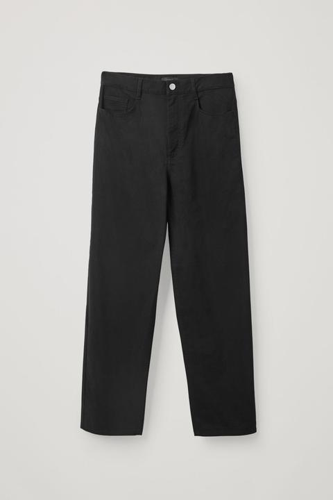 High-waisted Cotton Trousers de COS en 21 Buttons