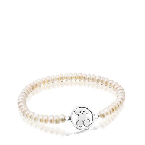 Pulsera Camille De Plata Con Perlas de Tous en 21 Buttons