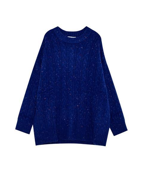 Pullover Tweed Trecce