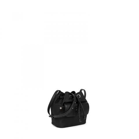Bombonera Mini Laina De Lona En Color Negro