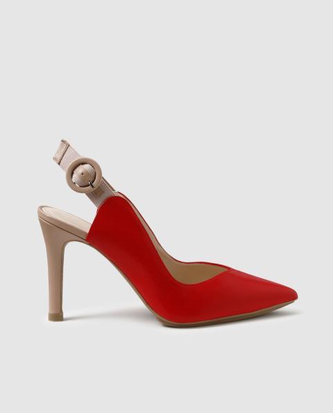 Lodi - Zapatos De Salón De En Piel De Color Rojo Con Hebilla de El Corte Ingles en 21 Buttons