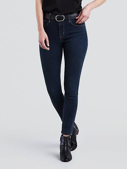 720™ High Waisted Super Skinny Jeans Negro / Essential Blue de Levi's en 21 Buttons