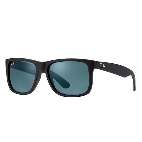 Justin Classic Unisex Sunglasses Lentes: Azul Polarizadas, Montura: Negro de Ray-Ban en 21 Buttons