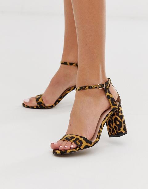 Sandalias De Tacón Cuadrado Con Estampado De Leopardo De Carvela de ASOS en 21 Buttons