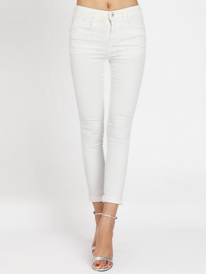 Pantaloni In Denim Bianchi