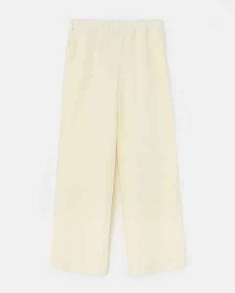 Pantalón Pana Blanco Roto