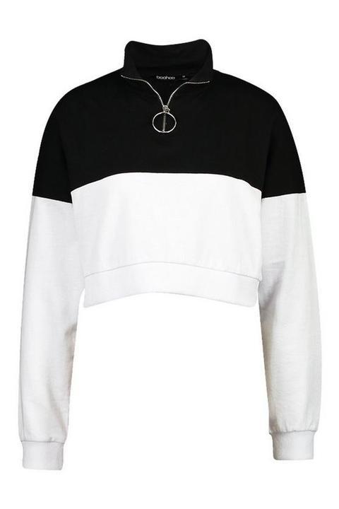 Colour Block 14 Zip Sweatshirt