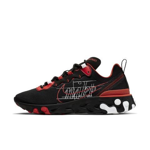 chaussure nike react homme noir et rouge