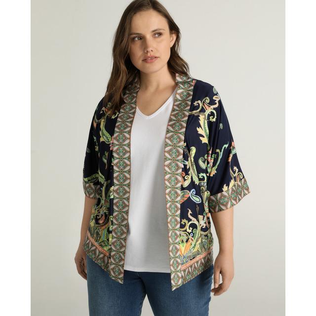 Woman Plus El Corte Ingles Kimono De Mujer Talla Grande Con Estampado Ornamental De El Corte Ingles En 21 Buttons