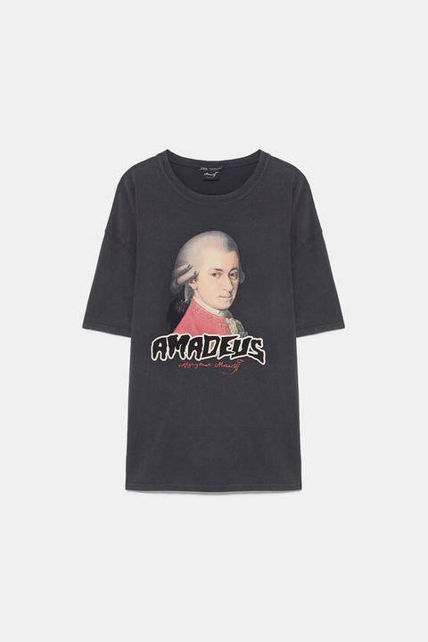 Camiseta Estampada Mozart