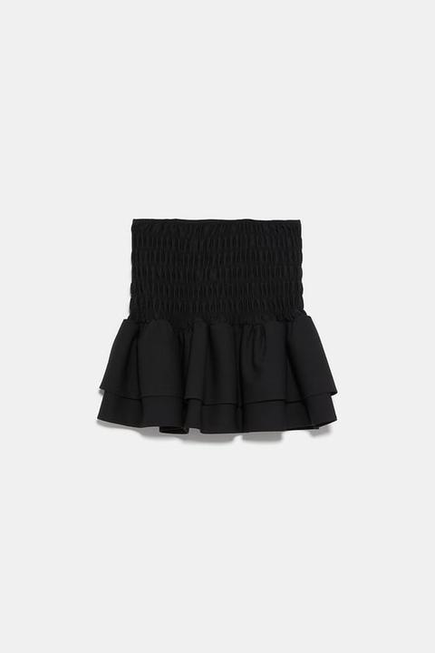 Falda Mini Volantes