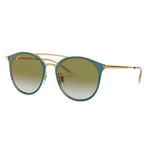 Rj9545s Unisex Sunglasses Lentes: Verde, Montura: Oro de Ray-Ban en 21 Buttons