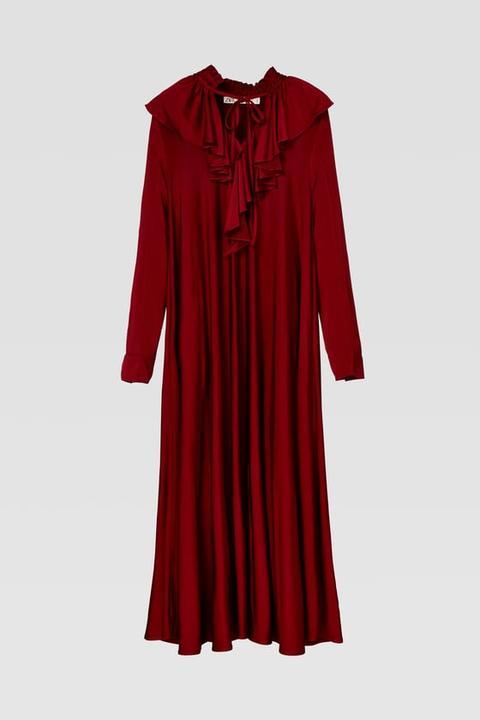 Vestido Volantes de Zara en 21 Buttons