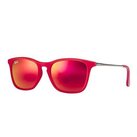 Chris Junior Unisex Sunglasses Lentes: Rojo, Montura: Gunmetal de Ray-Ban en 21 Buttons