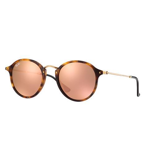 design unico alta moda prodotti caldi Ray Ban Round Fleck At Collection Unisex Sunglasses Lenti: Rosa, Montatura:  Oro - Rb2447 1160z2 49-21 from Ray-Ban on 21 Buttons