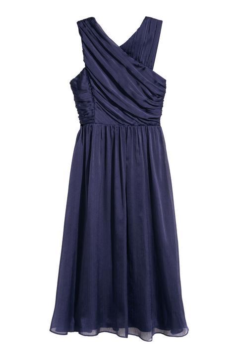 Vestido Drapeado - Azul de H&M en 21 Buttons
