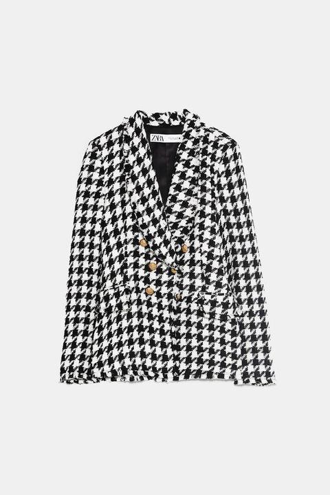 Chaqueta Pata De Gallo de Zara en 21 Buttons