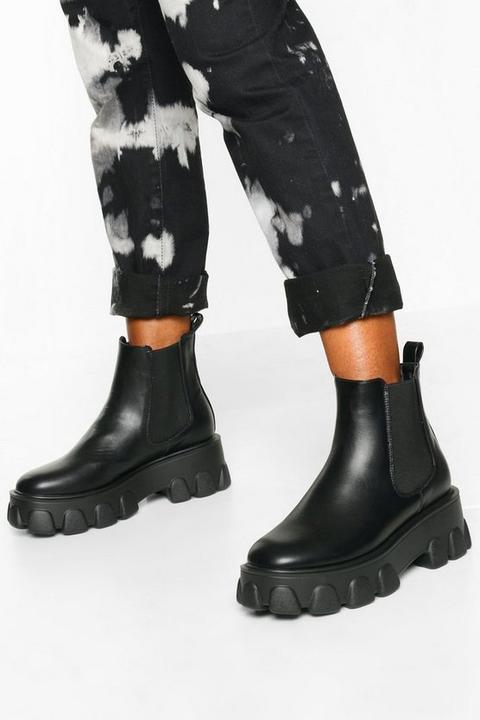 Womens Chunky Platform Chelsea Boots