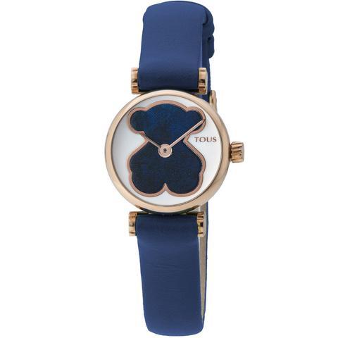 Reloj Camille De Acero Ip Rosado Con Correa De Piel Azul de Tous en 21 Buttons