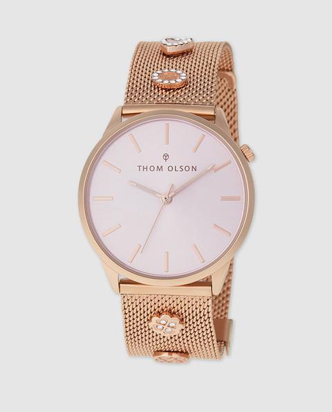 Thom Olson - Reloj De Mujer Gypset Cbto017 De Acero Rosa de Thom Olson en 21 Buttons