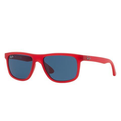 Rj9057s Unisex Sunglasses Lentes: Azul, Montura: Rojo de Ray-Ban en 21 Buttons