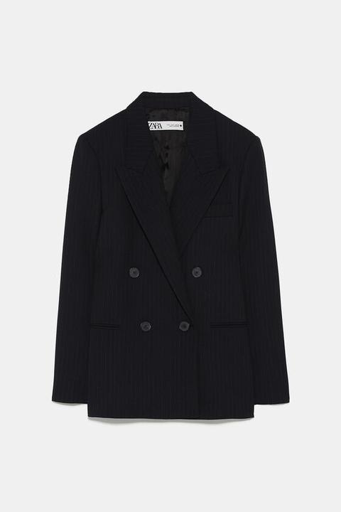 Blazer Cruzada Rayas de Zara en 21 Buttons