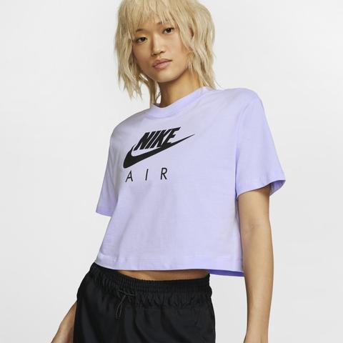 carencia elefante Arroyo  Nike Air Camiseta De Manga Corta - Mujer - Morado from Nike on 21 Buttons