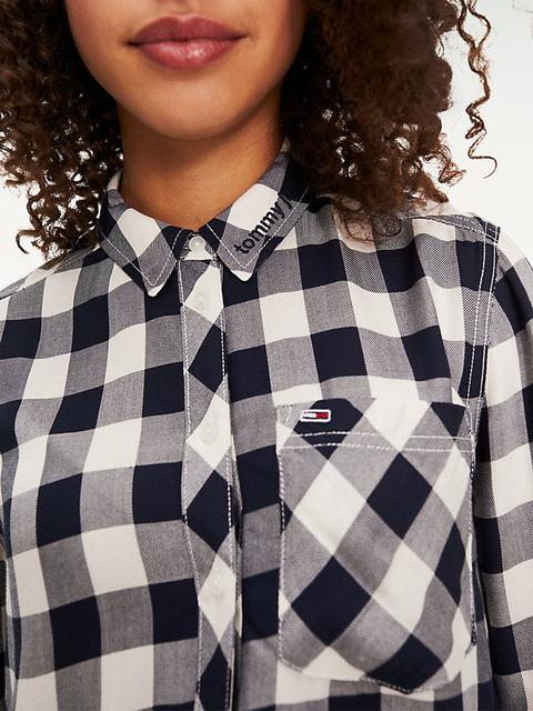 Camisa Con Diseño De Cuadros