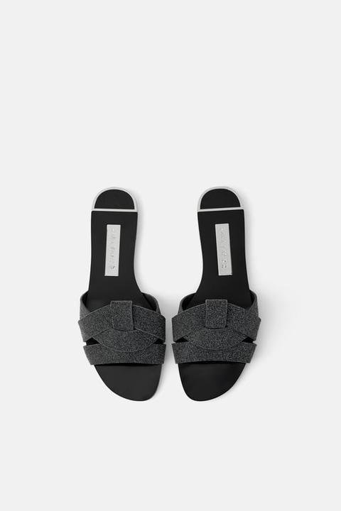 21 Tiras Plana Buttons Sandalia Cruzadas En De Zara UzpMVS