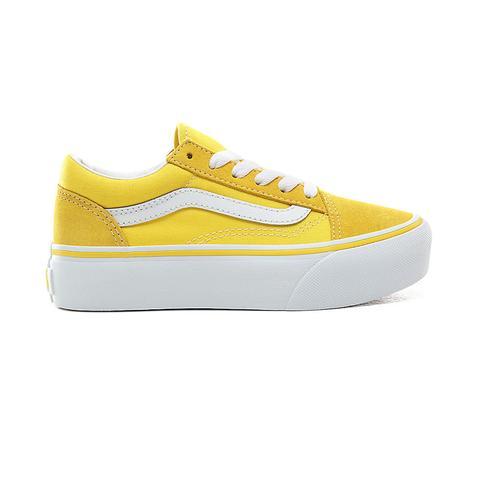 Vans Zapatillas De Niños Old Skool Con Platforma (4-8 Años) (vibrant Yellow/true White) Niños Amarillo de Vans en 21 Buttons
