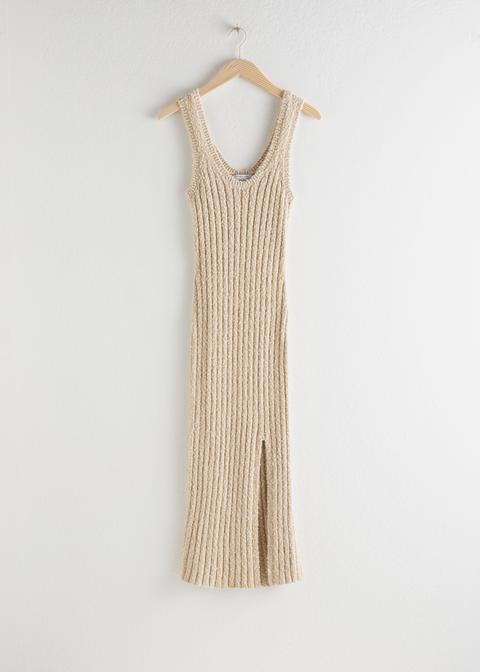 Glitter Cotton Blend Knit Midi Dress de And Other Stories en 21 Buttons