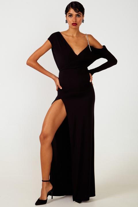 Vestido Largo De Fiesta. Modelo Viena Negro de Etxart & Panno en 21 Buttons