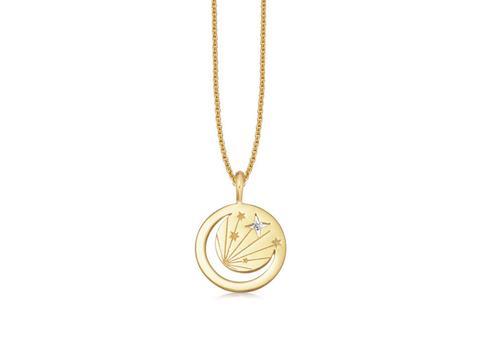 Gold Moon Amulet Necklace - 18ct Gold Vermeil