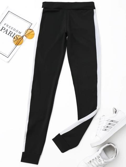 Pantaloni A Strisce Attivi Laterali
