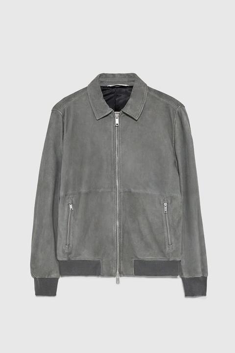 Cazadora Ante de Zara en 21 Buttons