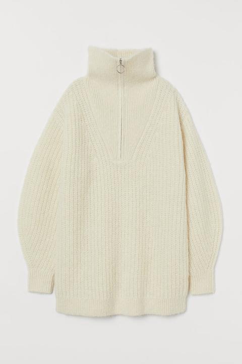 Jersey En Mezcla De Alpaca - Blanco de H&M en 21 Buttons