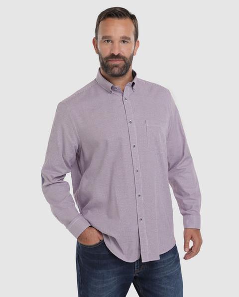 Dustin Camisa De Hombre Classic Estampada Bicolor Tallas Grandes De El Corte Ingles En 21 Buttons