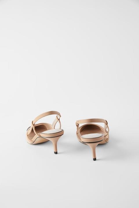 Zapato Tacón Destalonado Rejilla