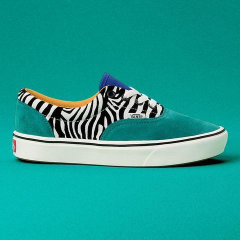 Vans Zapatillas Zebra Comfycush Era ((zebra) Tidepool/surf The Web) Mujer Verde