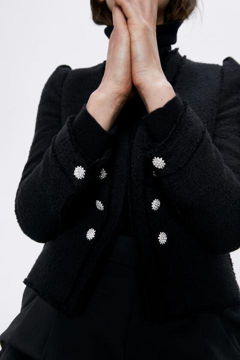 Chaqueta Tweed Popelín