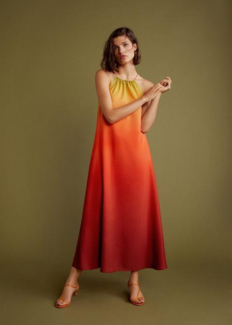 Vestido Estampado Tie-dye de Mango en 21 Buttons