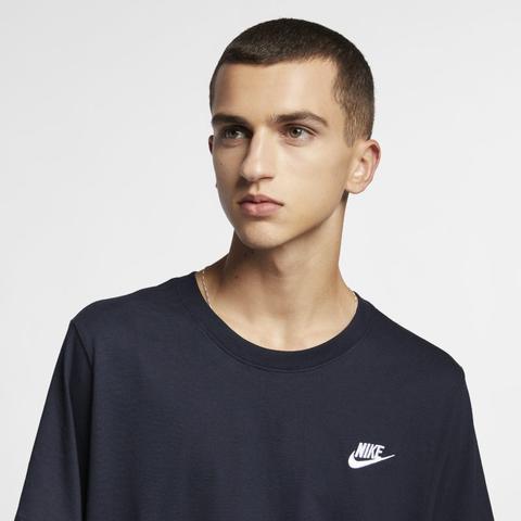 Torpe inteligente Confusión  Nike Sportswear Club Camiseta - Hombre - Azul from Nike on 21 Buttons