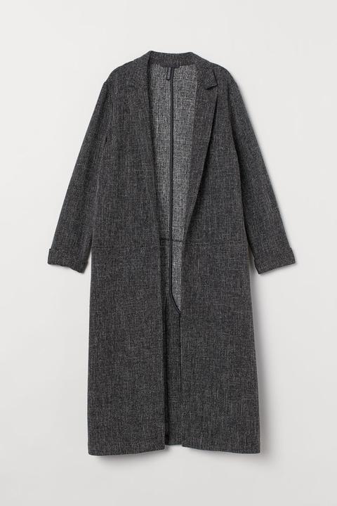 Manteau De Longueur Genou - Gris