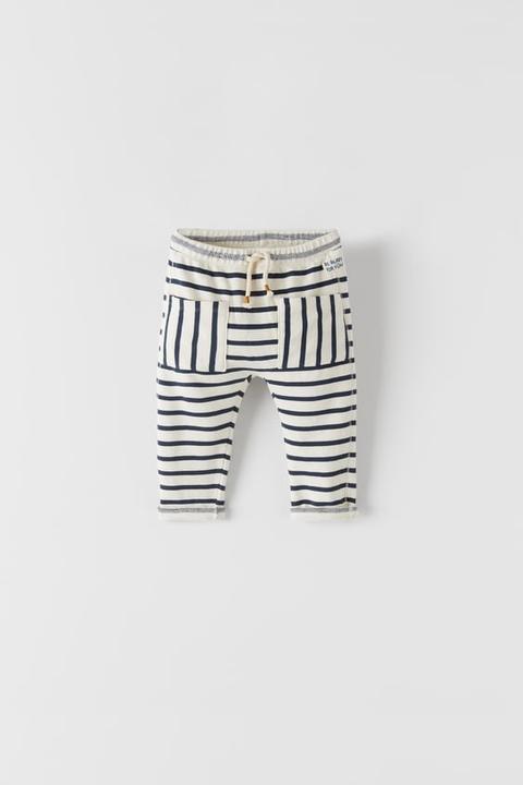 Striped Plush Jersey Trousers
