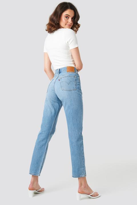 501 Crop Jeans Blue de NA-KD en 21 Buttons