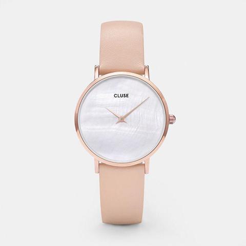Minuit La Perle Rose Gold White Pearl/nude de Cluse en 21 Buttons