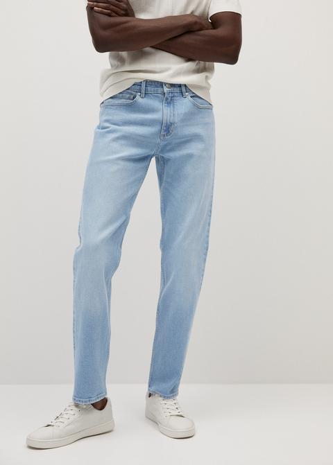 Jeans Straight-fit Bob Lavado Claro