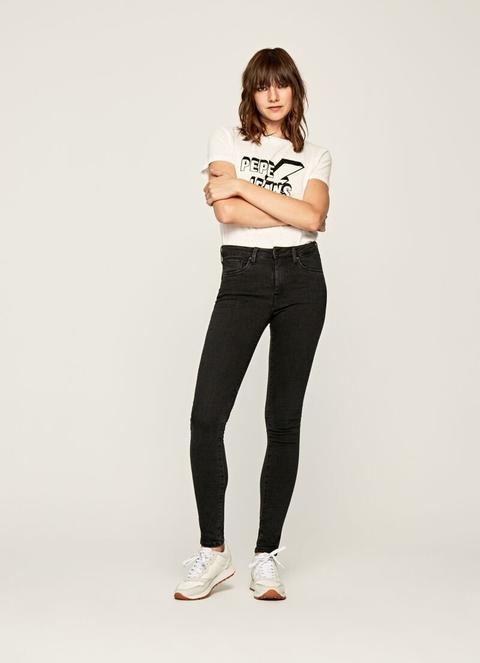 Regent Skinny Fit High Waist Jeans de Pepe Jeans en 21 Buttons