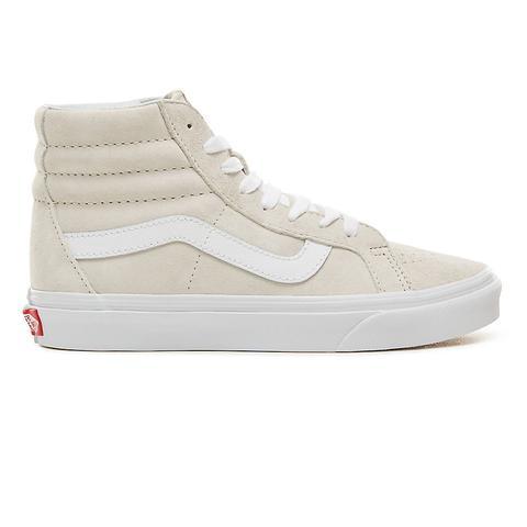 Vans Chaussures En Daim Sk8-hi Reissue ((pig Suede) Moonbeam/true White)  Homme Blanc from Vans on 21 Buttons