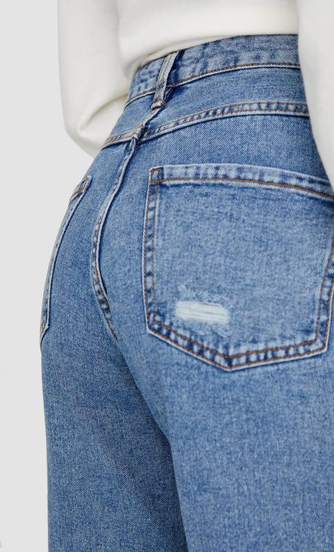 Jeans High Waist Rotos